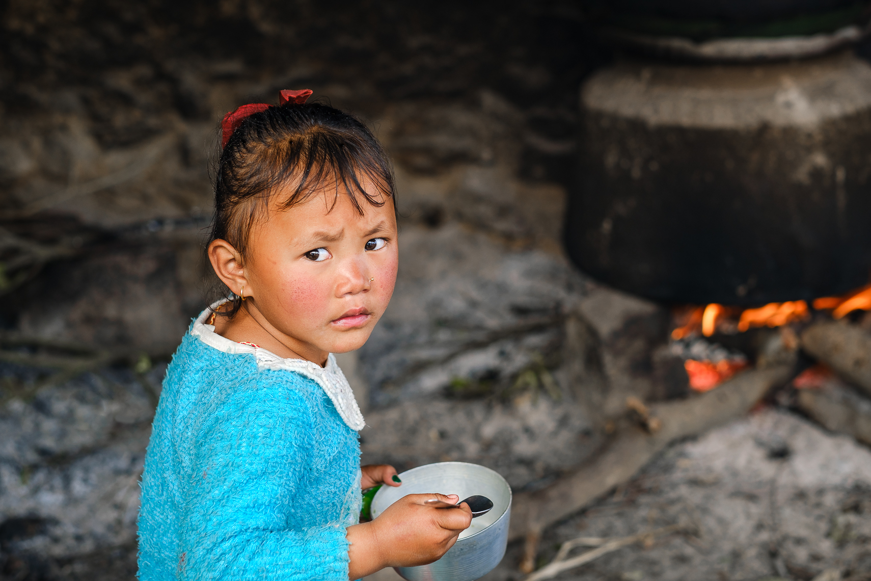 CURIOUS EYES, NAGARKOT, NEPAL
