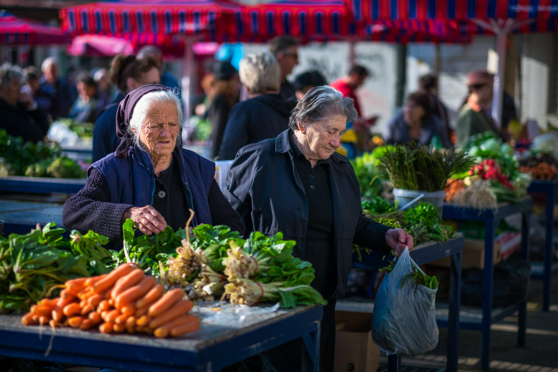 Market life in Split, Croatia