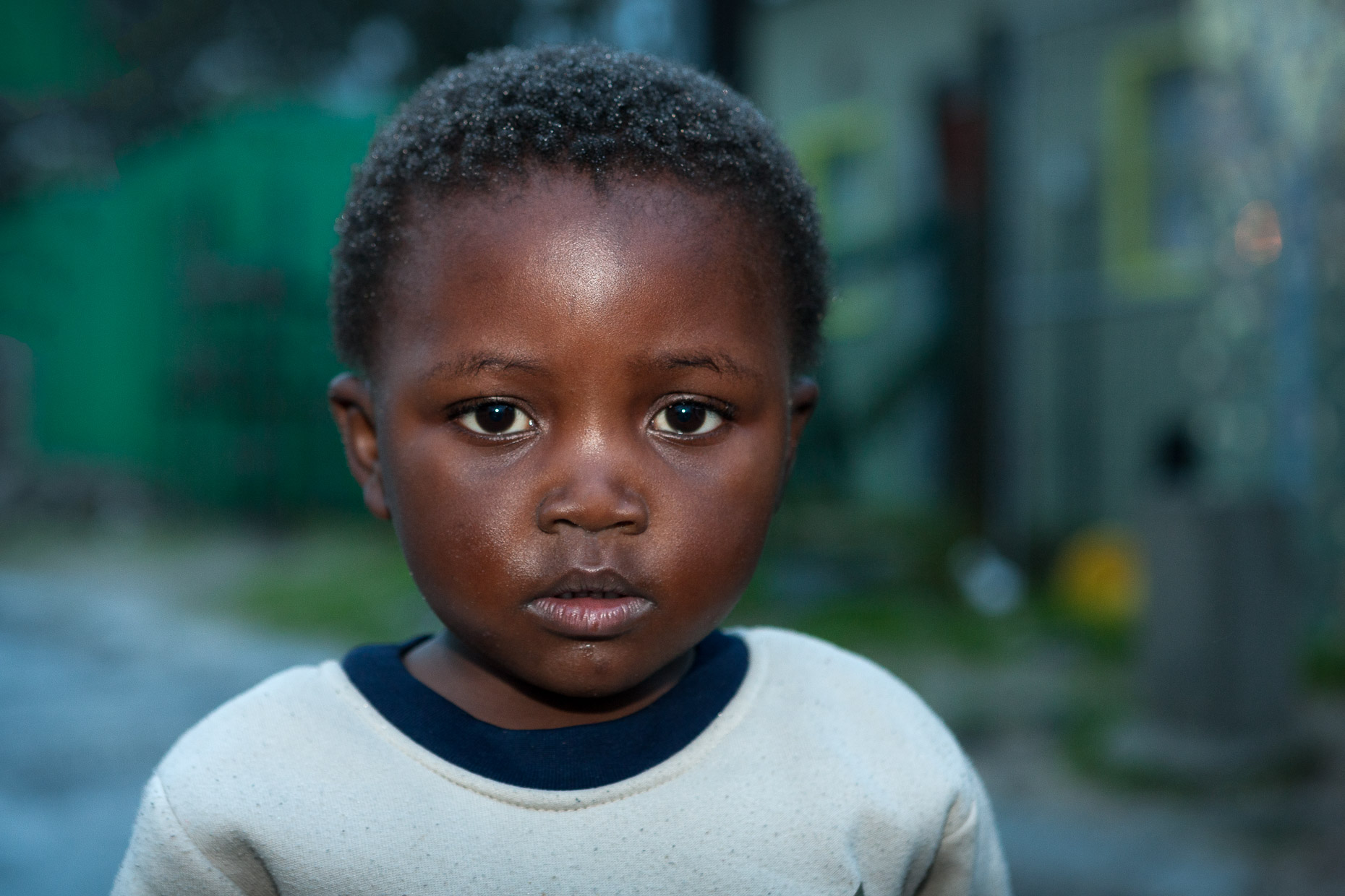Young boy in the Townships of Cape Town, South Africa