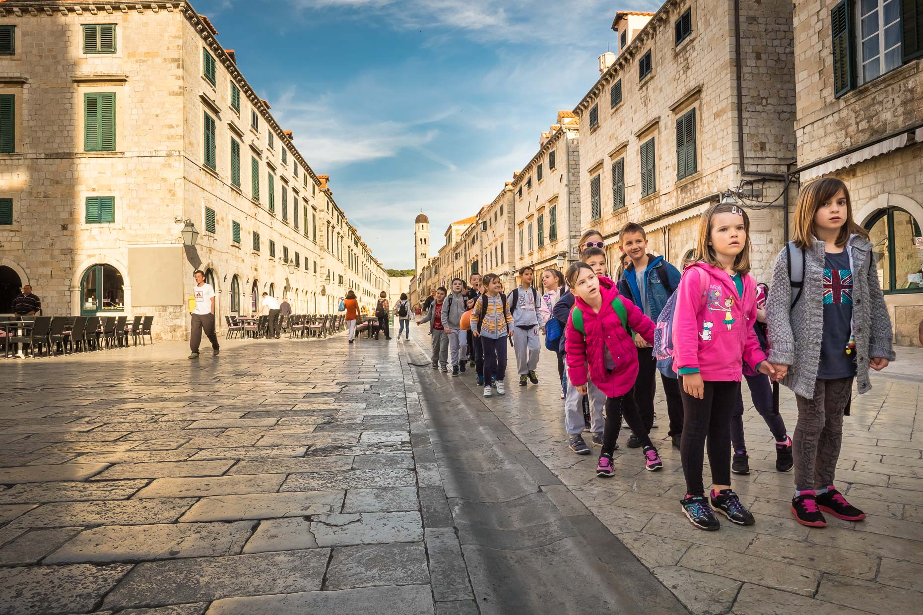 ESchool children visiting Dubrovnik, Croatia