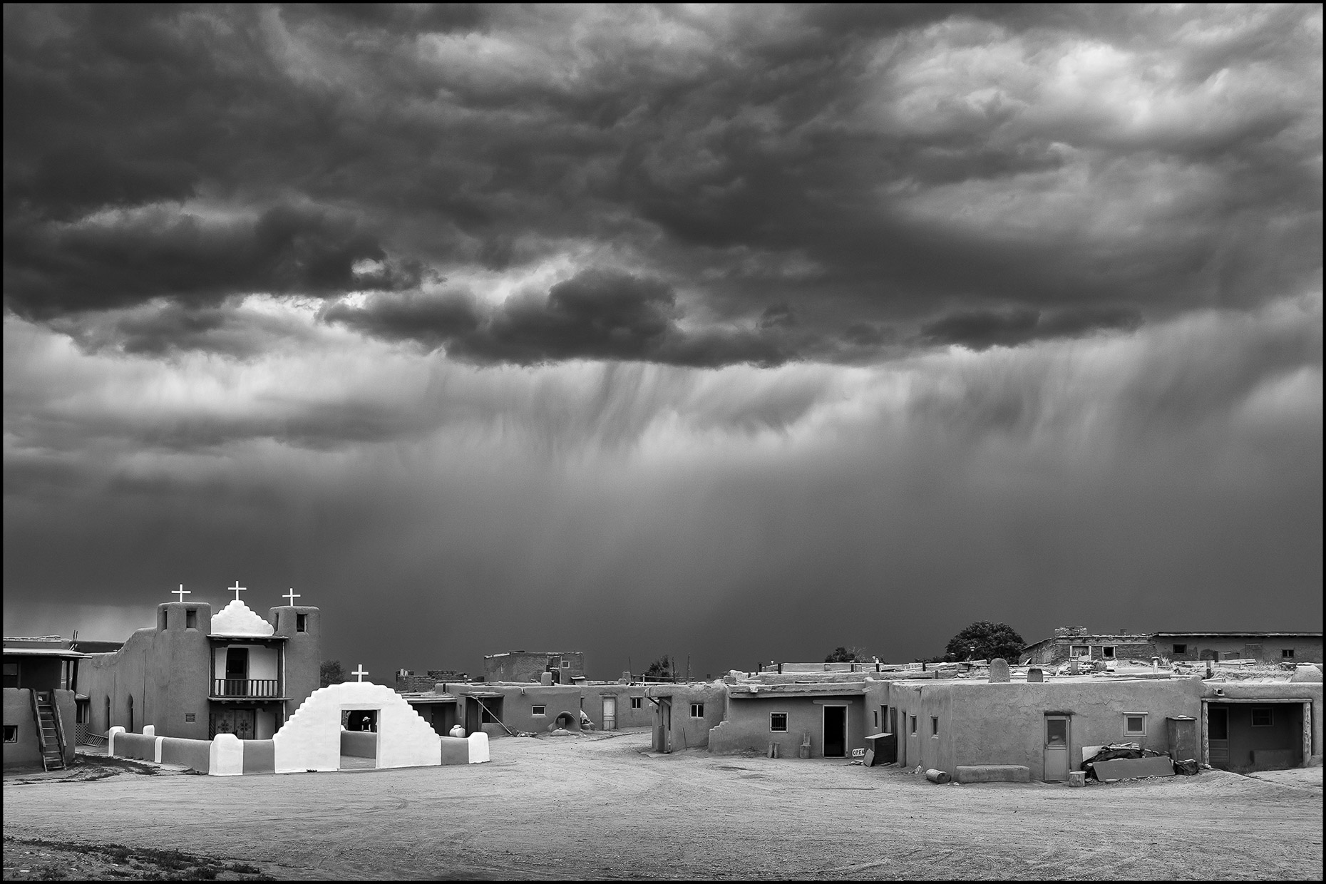 Mission Church, Taos Pueblo, New Mexico, USA